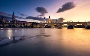 Картинка ночь, город, Zaragoza