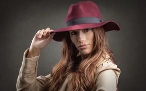 Картинка взгляд, портрет, шляпа, Stephanie