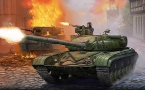 Обои Урал, Т-72, советский средний и основной танк, Самый массовый танк второго поколения, Red Thunder - ...