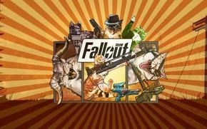 Картинка Кошки, Fallout, Арт, Коты, Meow, Meow Fallout