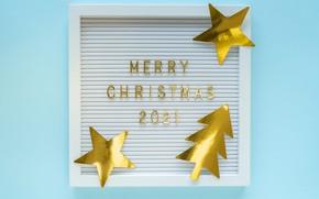 Картинка зима, звезды, полоски, буквы, праздник, надпись, блеск, рамка, Рождество, цифры, Новый год, ёлочка, золотые, голубой …
