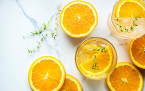 Картинка стакан, апельсин, напиток