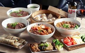 Картинка мясо, блюда, сервировка, азиатская кухня