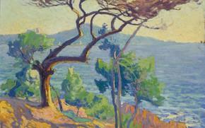 Картинка пейзаж, картина, 1912, Paul Madeline, Красные Скалы, Пол Медлин