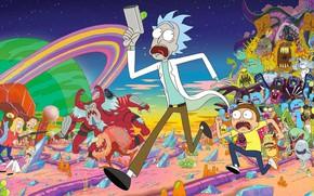 Обои Монстры, Smith, Мультфильм, Инопланетяне, Sanchez, Rick, Rick and Morty, Рик и Морти, Morty, Rick Sanchez, ...