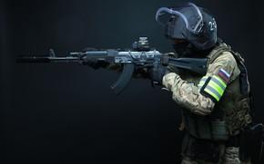 Картинка оружие, Армия, Автомат, Дефендер, Спецназ, ЦСН, ФСБ, Архангел, РОСН, АК103, ЛШЗ-2ДТМ, Helikon-Tex, СК Архангел