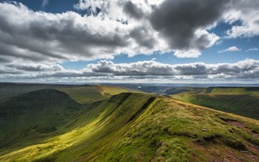 Картинка небо, облака, Уэльс, Brecon Beacons National Park