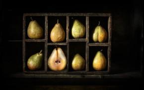 Картинка фрукты, груши, восемь