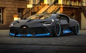 Картинка рендеринг, Bugatti, суперкар, 2018, гиперкар, Rostislav Prokop, by Rostislav Prokop, Divo