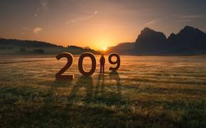 Картинка поле, солнце, Новый год, 2019