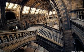 Картинка интерьер, лестницы, перилла