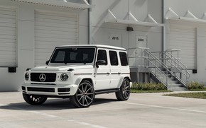 Картинка Mercedes, AMG, White, New, G63, Vossen, W464