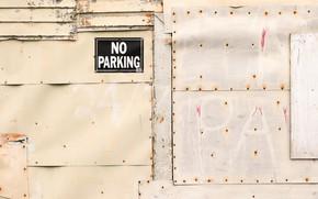 Картинка стена, знак, парковка