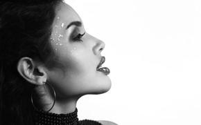 Картинка девушка, лицо, волосы, губы, профиль
