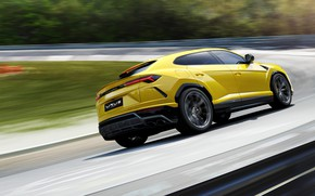 Картинка скорость, Lamborghini, 2018, Urus