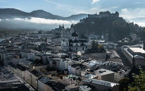 Картинка город, утро, Salzburg