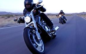 Картинка Мотоциклы, Шоссе, Моторы