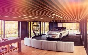 Картинка транспорт, лестница, автомобиль, помещение, Renault Symbios Concept