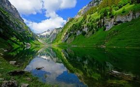 Картинка горы, озеро, Швейцария, Switzerland