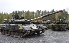 Картинка Танк, Украина, Т-64, ОКБ имени Морозова, Т-64БВ, AMX-56 Leclerc