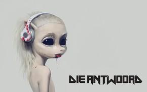 Картинка девушка, кровь, наушники, Die Antwoord, Yolandi Visser