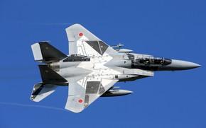 Картинка Mitsubishi Heavy Industries, ПТБ, Japan, F-15DJ, Силы самообороны Японии, Пилот, Кокпит, Япония, Воздушные силы самообороны …