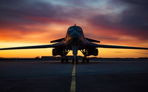 Картинка Lancer, B-1B, ВВС США, Rockwell, стратегический бомбардировщик, с крылом изменяемой стреловидности, американский сверхзвуковой