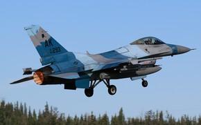 Картинка Истребитель, Форсаж, USAF, Взлет, F-16 Fighting Falcon, Шасси, Aggressor Squadron