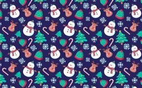 Картинка украшения, фон, узор, Новый Год, Рождество, Christmas, background, pattern, New Year, decoration, xmas, Merry, seamless