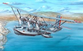 Картинка в полёте, Br.521, французская разведывательная летающая лодка, Breguet