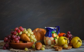 Картинка стол, фрукты, натюрморт, овощи