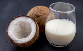 Картинка кокос, молоко, орех