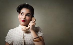 Картинка девушка, телефон, Camila