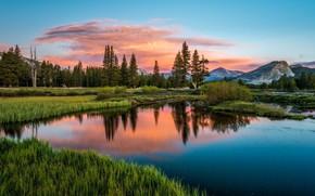 Картинка sunset, mountains, lake