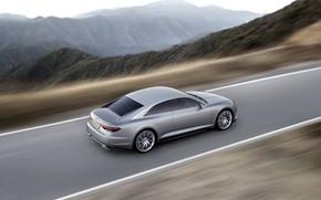 Картинка дорога, Concept, Audi, купе, скорость, Coupe, 2014, Prologue