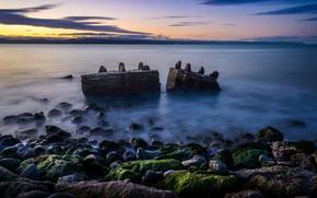 Картинка море, камни, берег