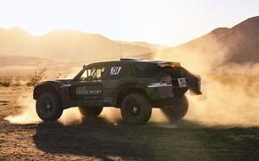 Картинка свет, пыль, Volkswagen, 4x4, 2019, Atlas Cross Sport R Concept