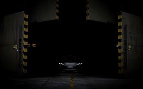 Картинка BMW, седан, гибрид, четырёхдверный, G12, 7er, 7-series, 2019, удлинённая колёсная база, из темноты, 745Le