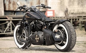 Картинка Harley-Davidson, Custom, Motorcycle, Thunderbike