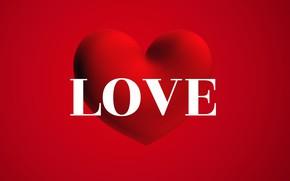 Картинка любовь, сердце, слово, День Святого Валентина