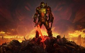 Картинка солдат, броня, DOOM Eternal