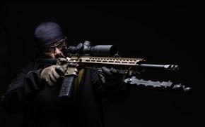 Картинка оружие, фон, оптика, мужчина, штурмовая винтовка
