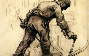 Картинка мужик, ботинки, рабочий, серп, работяга, Reaper 3