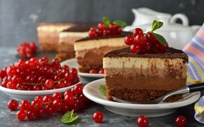 Картинка ягоды, шоколад, торт, смородина, сладкое