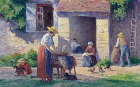 Картинка картина, жанровая, Максимильен Люс, Maximilien Luce, 1906-07, Ферма в Бесси-Сюр-Кюре