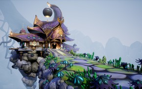 Обои Elven Inn, сооружение, шар, дом, архитектура