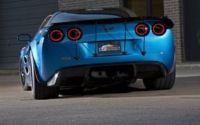 Картинка Corvette, ZR1, Ass, Blue