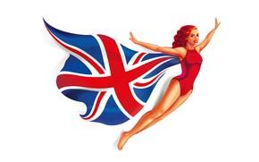 Картинка lady, flag
