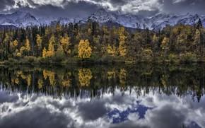 Картинка Alaska, United States, Water Mirror, Chickaloon