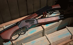 Картинка оружие, gun, дробовик, weapon, render, shotgun, marlin, марлин
